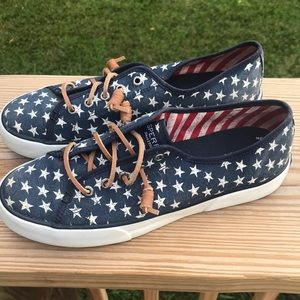 Sperry Top Siders Patriotic Stars Navy sneakers
